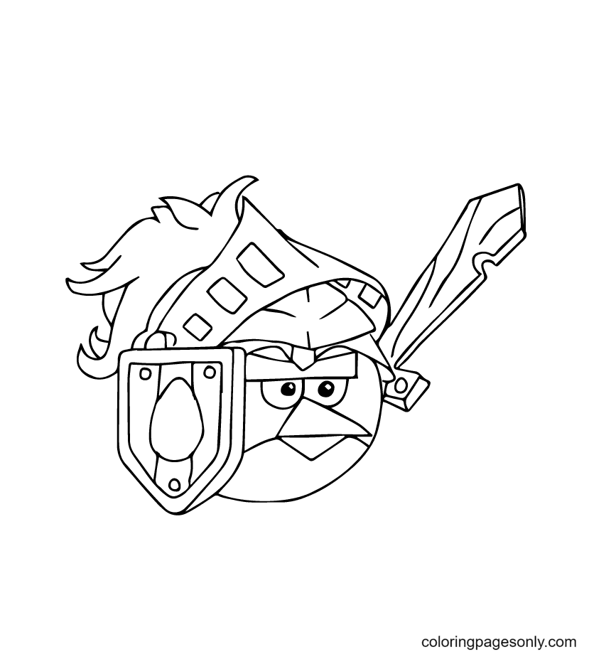 Angry Birds as a Soldier Coloring Page