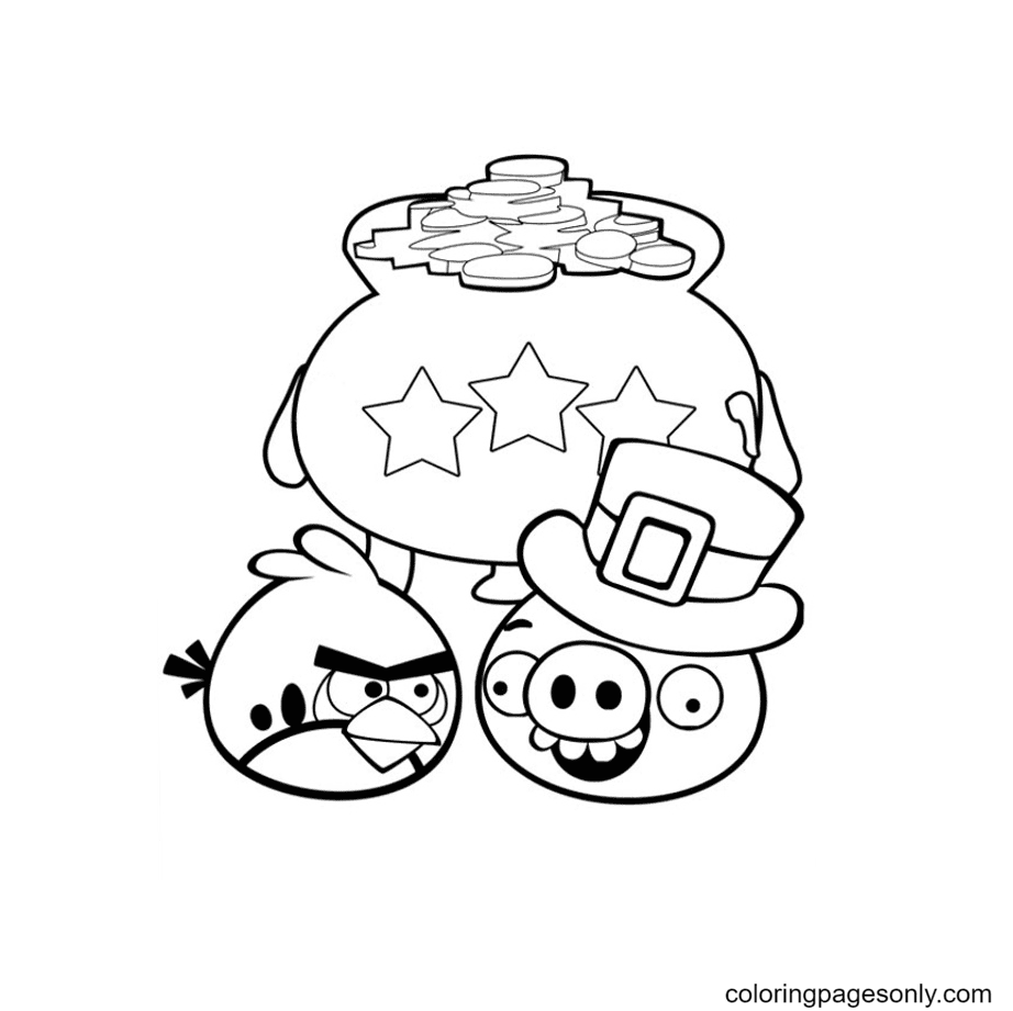 Angry Birds picture Coloring Page