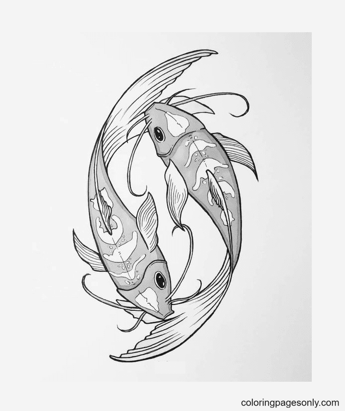 Animal Pisces Coloring Page