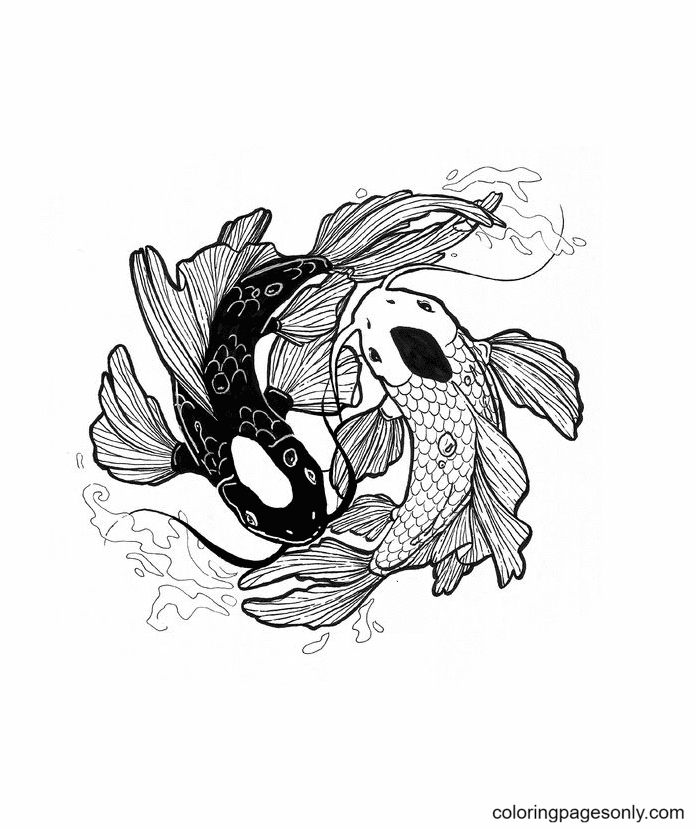 Anime Pisces Coloring Page