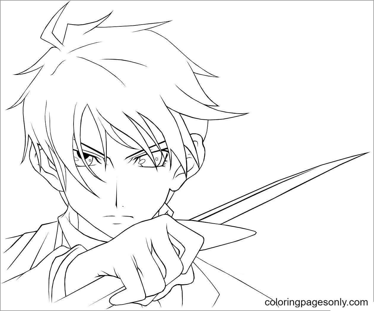 Anime character From Assassination Classroom Coloring Page