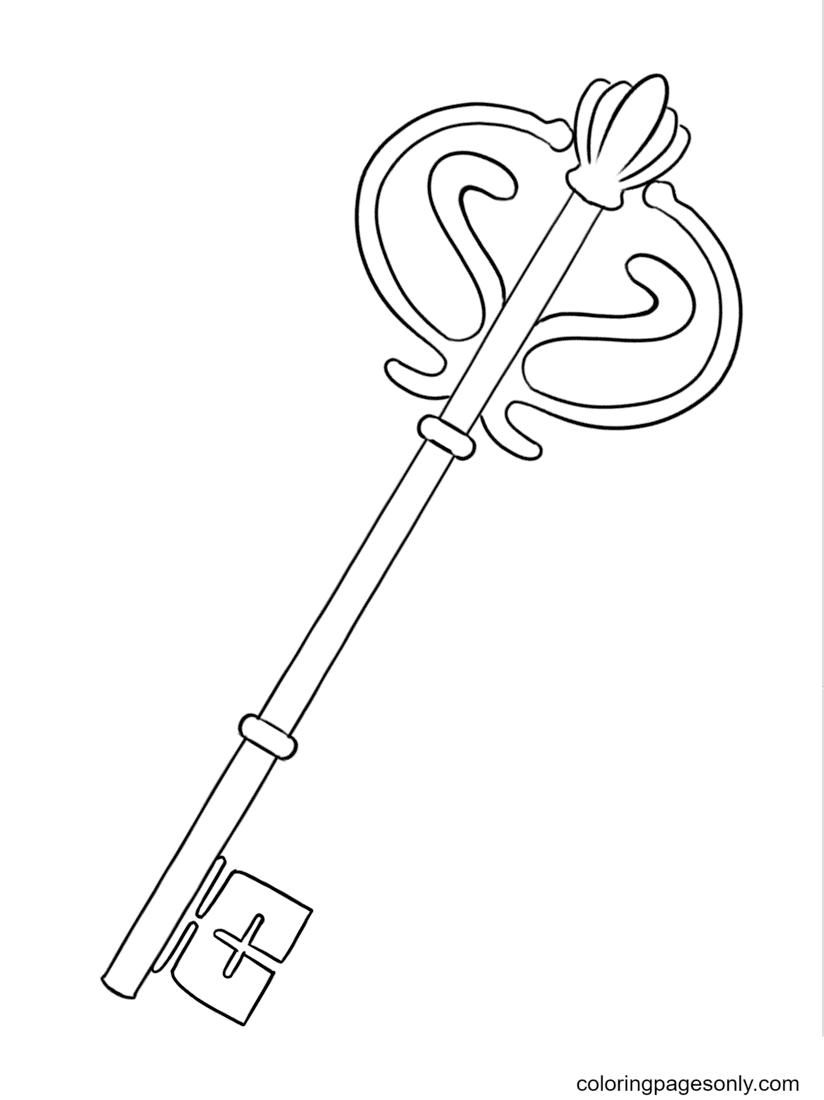 Antique Key Coloring Page