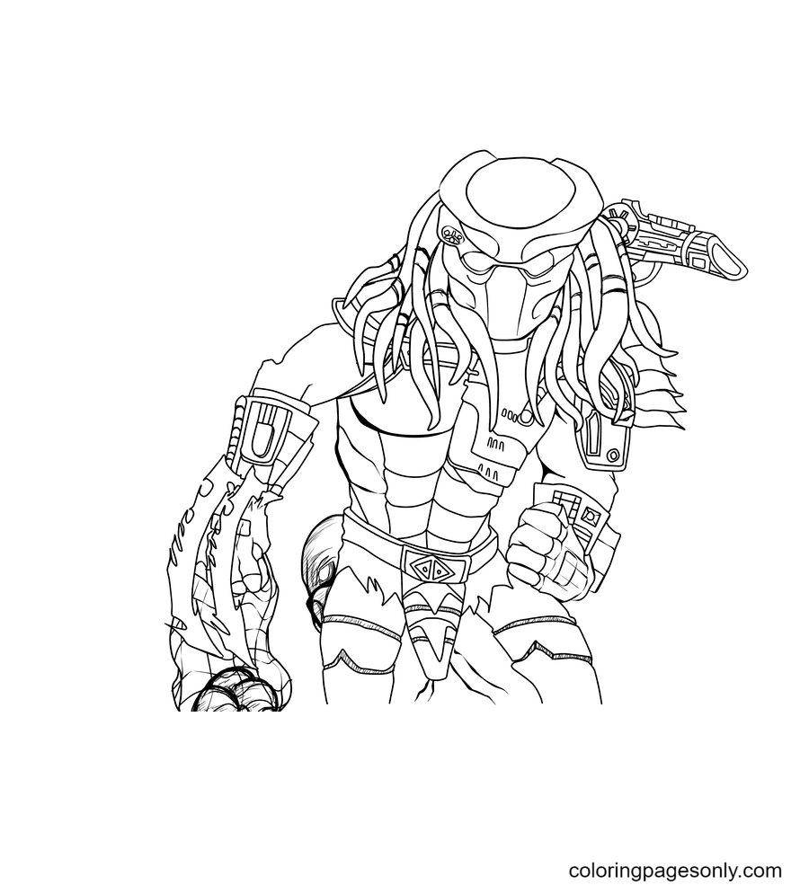 Awsome Predator Coloring Page