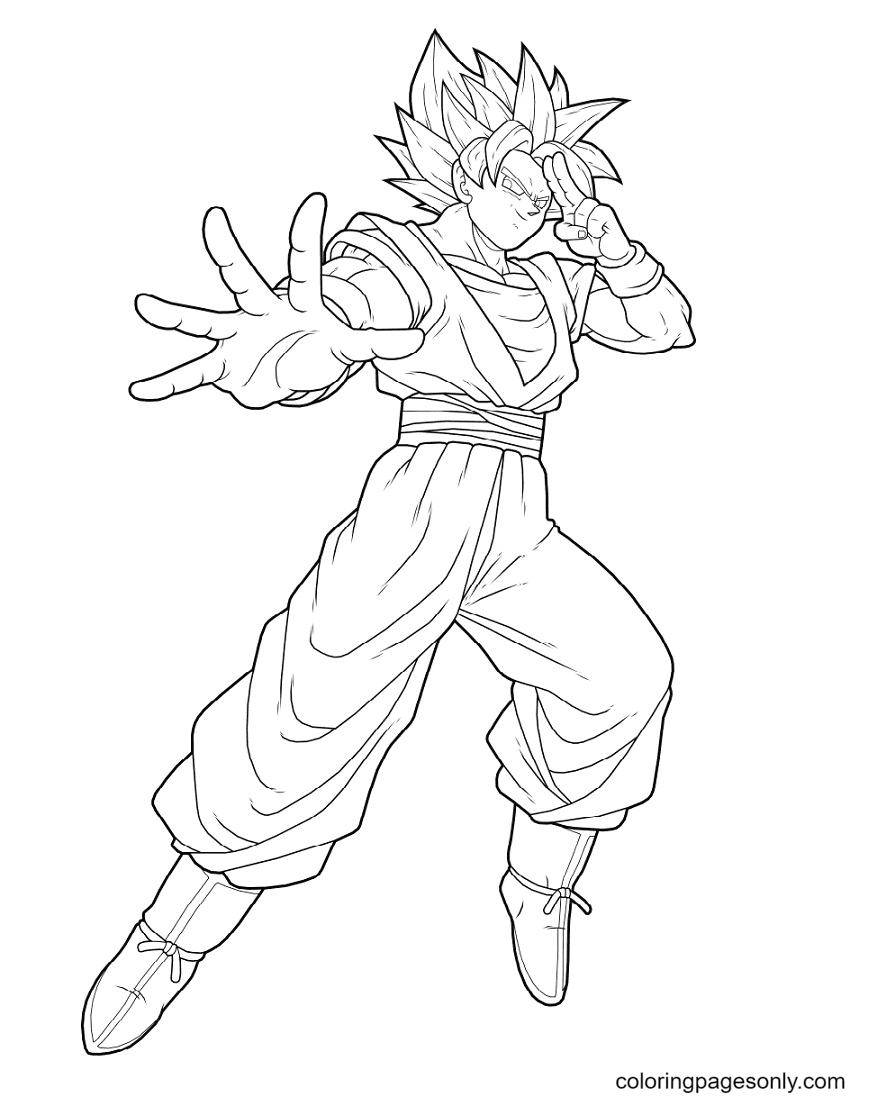 Awsome Son Goku Coloring Page