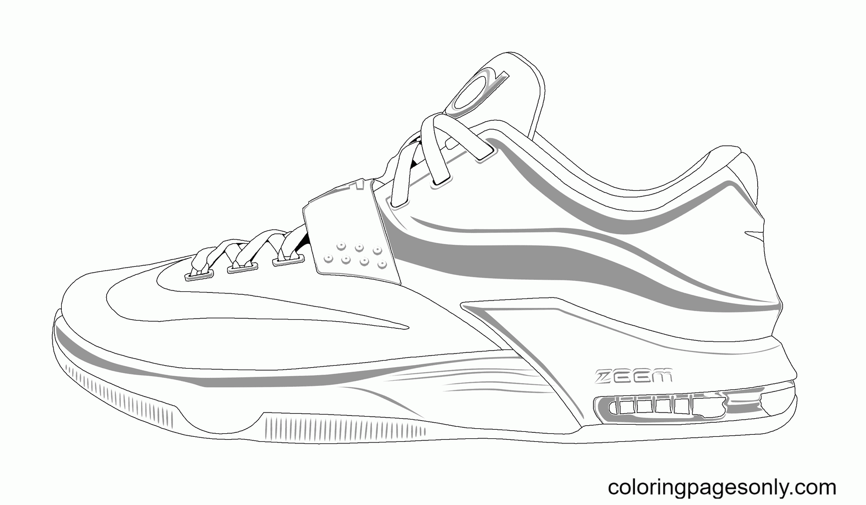 Basketball Shoe Coloring Page