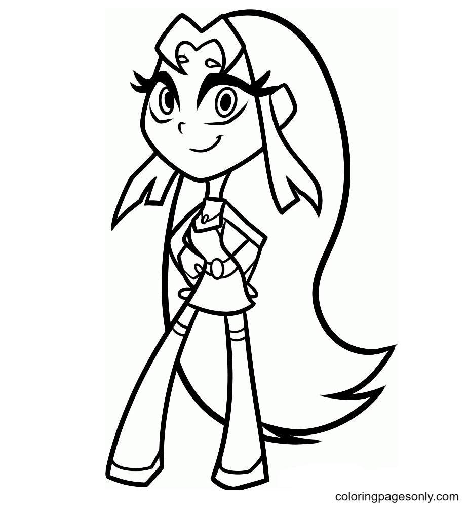 Beautiful Starfire Coloring Page