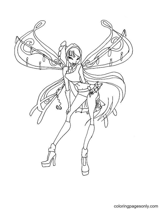 Believix Musa Coloring Page
