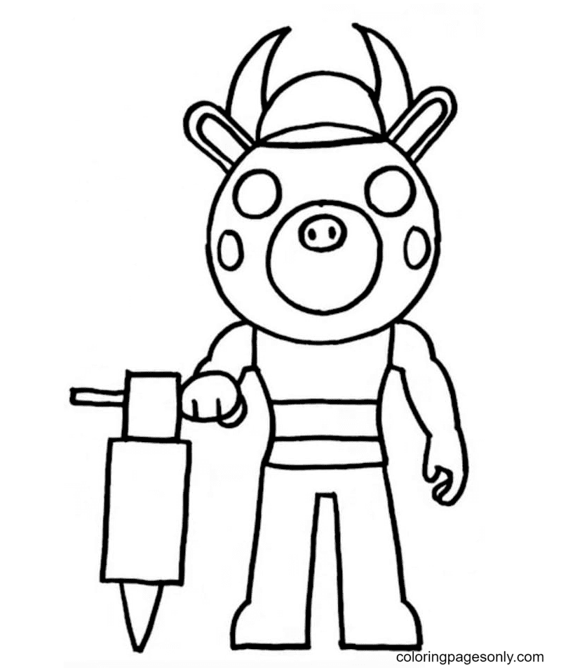 Billy Piggy Coloring Page