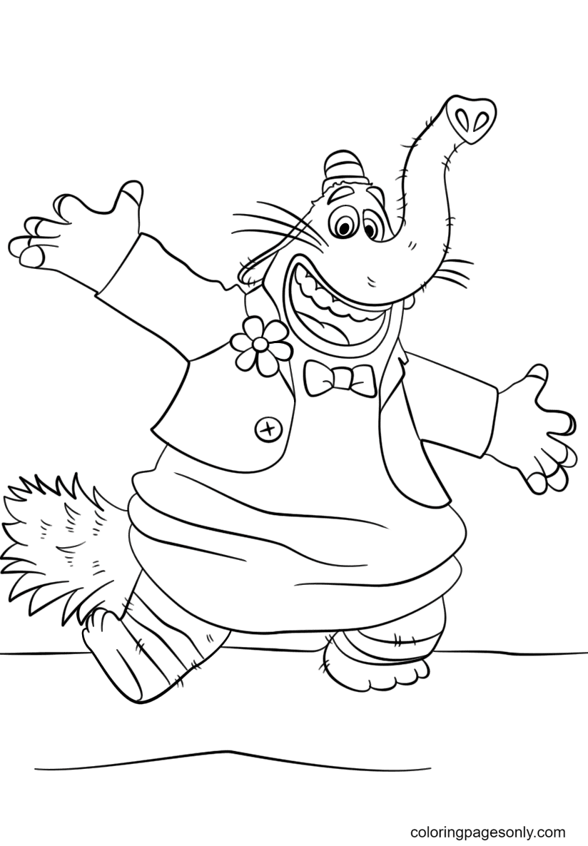 Bing Bong Inside Out Coloring Page