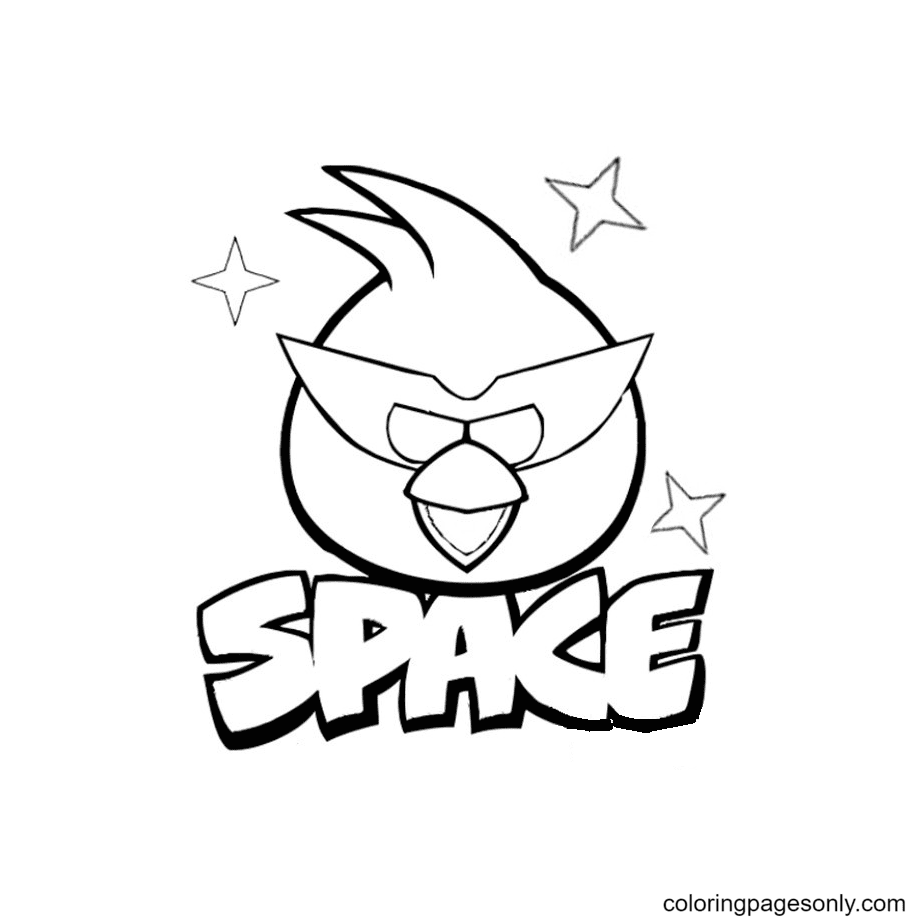Bird In Space Coloring Page