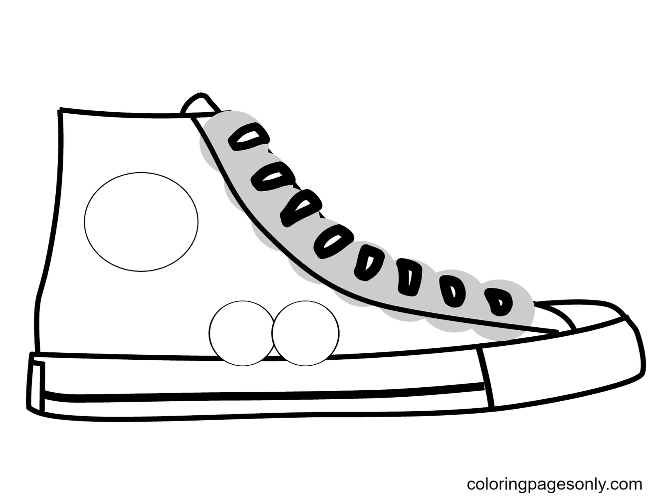 Blank Shoe Coloring Page