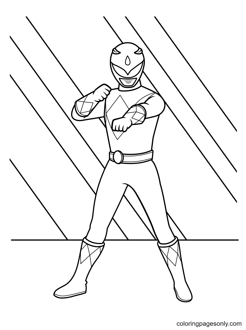 Blue Ranger Coloring Page
