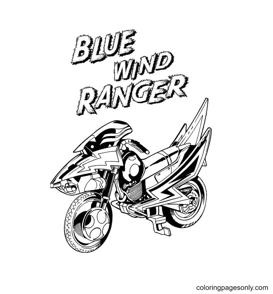 Blue Wind Ranger Coloring Page