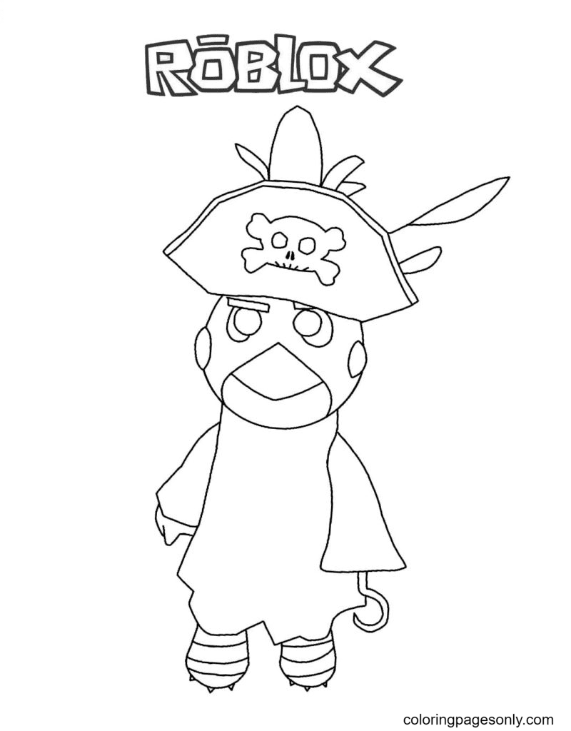 Budget Piggy Coloring Page