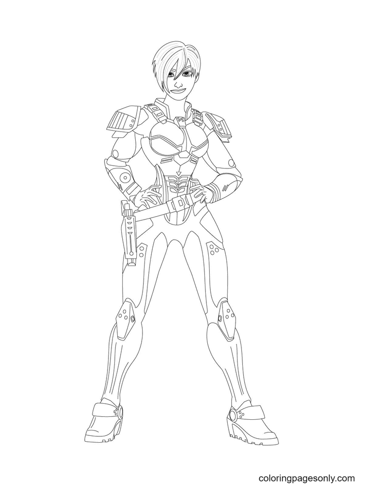 Calhoun Is Looking Dominant In Her Armor Coloring Page