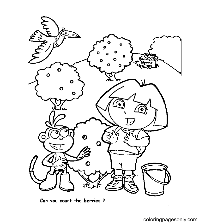 Can you count the berries Coloring Page