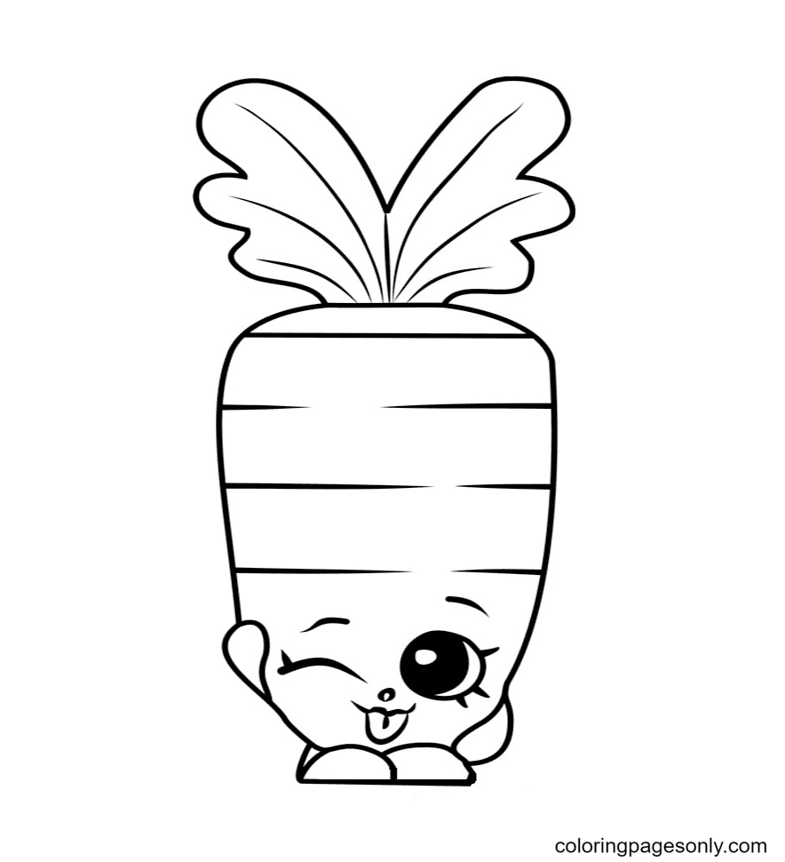 Carrot Shopkins Coloring Page