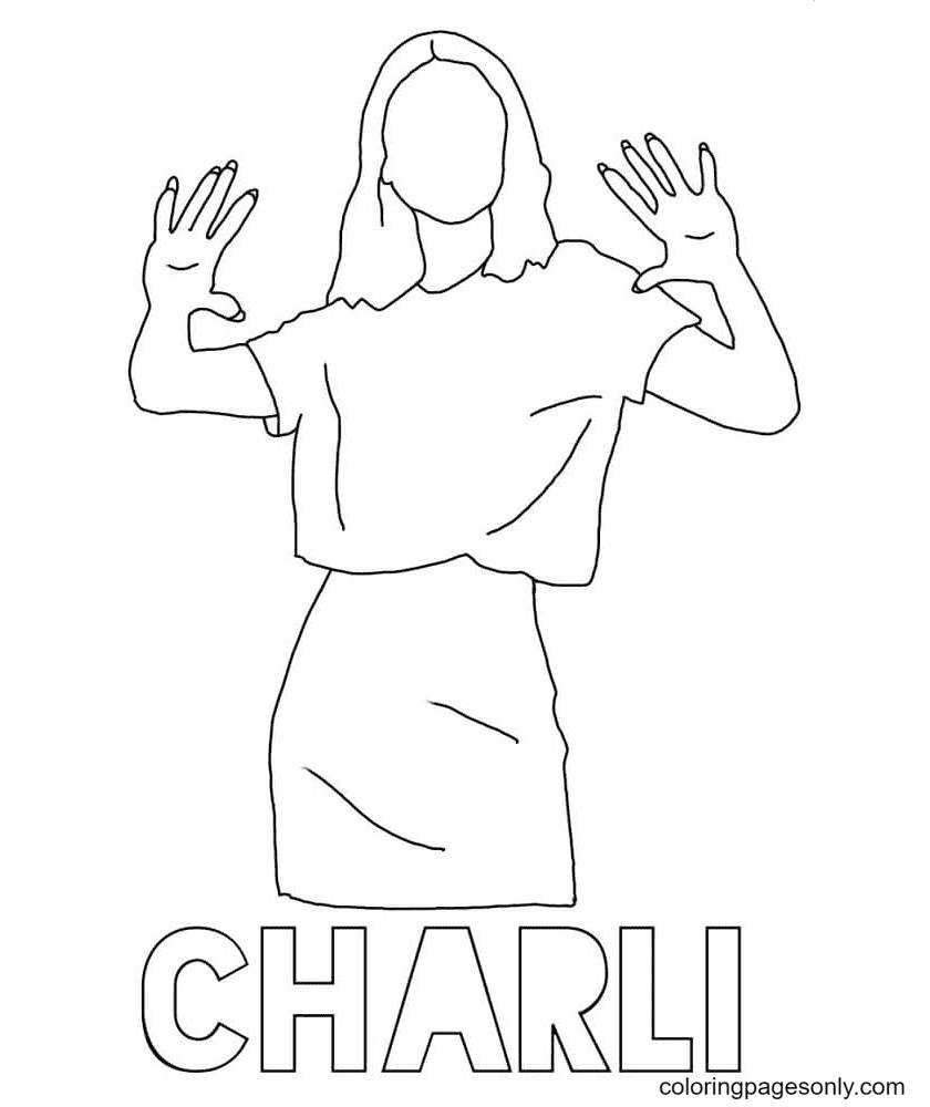 Charli TikTok Coloring Page