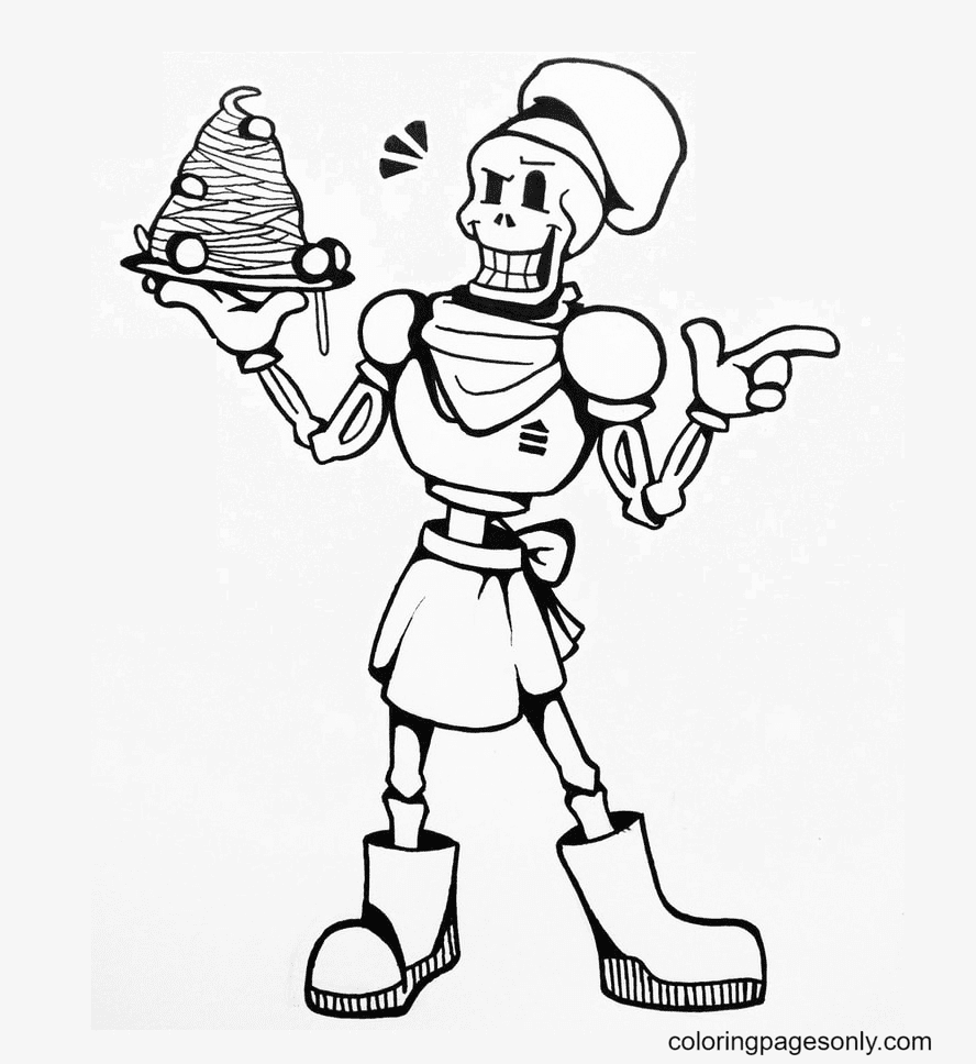 Chef Papyrus Coloring Page