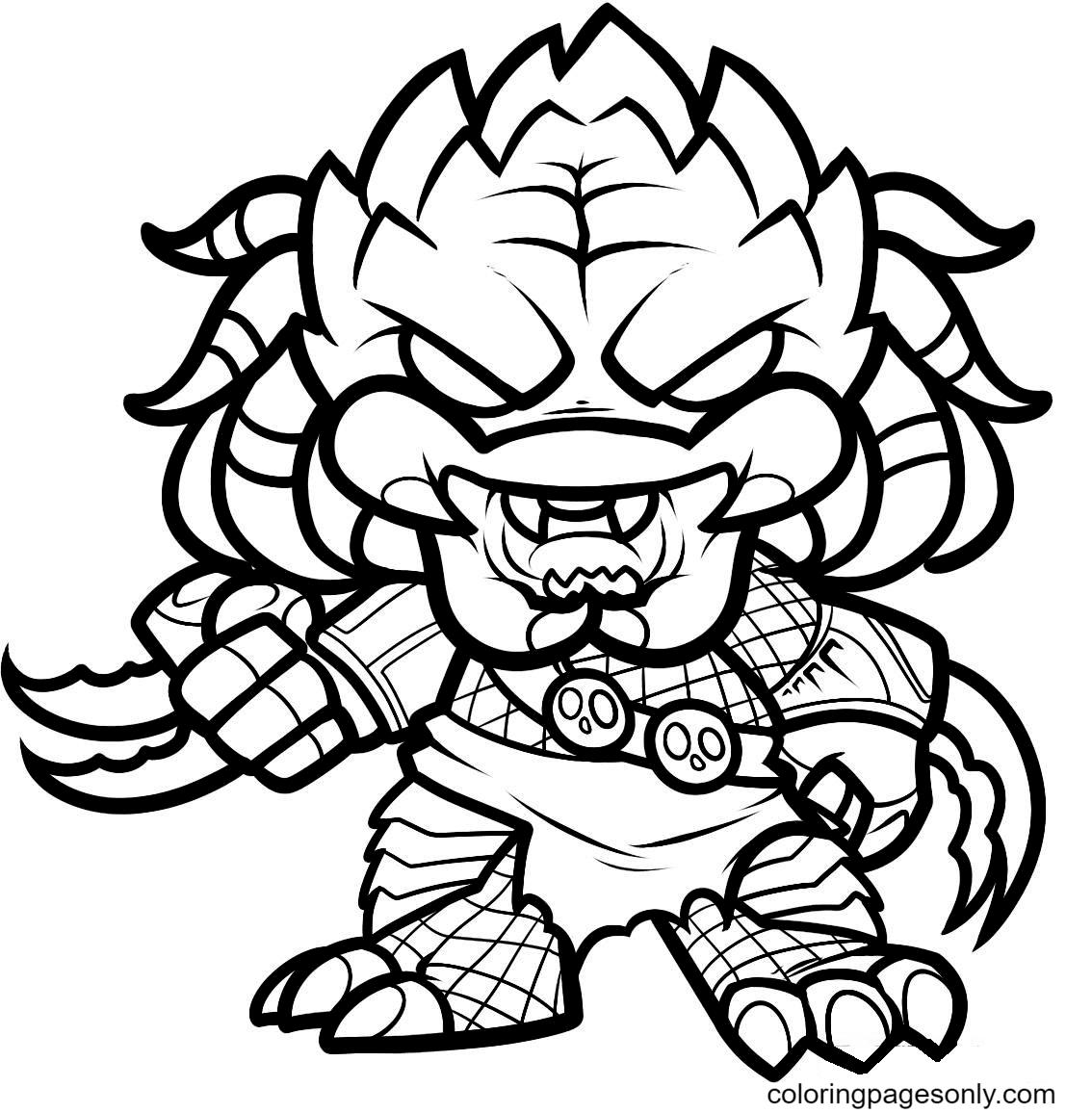 Chibi Predator Coloring Page