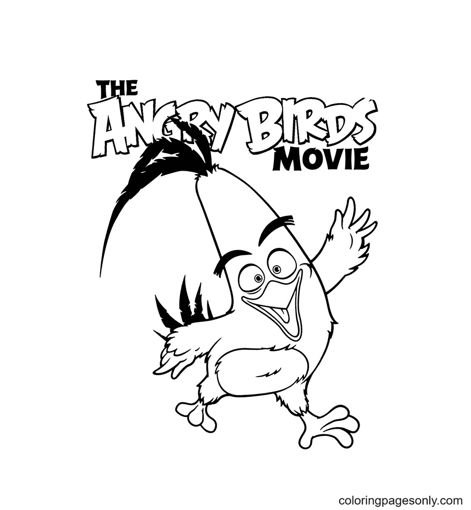 Chuck Angry Birds Movie Coloring Page