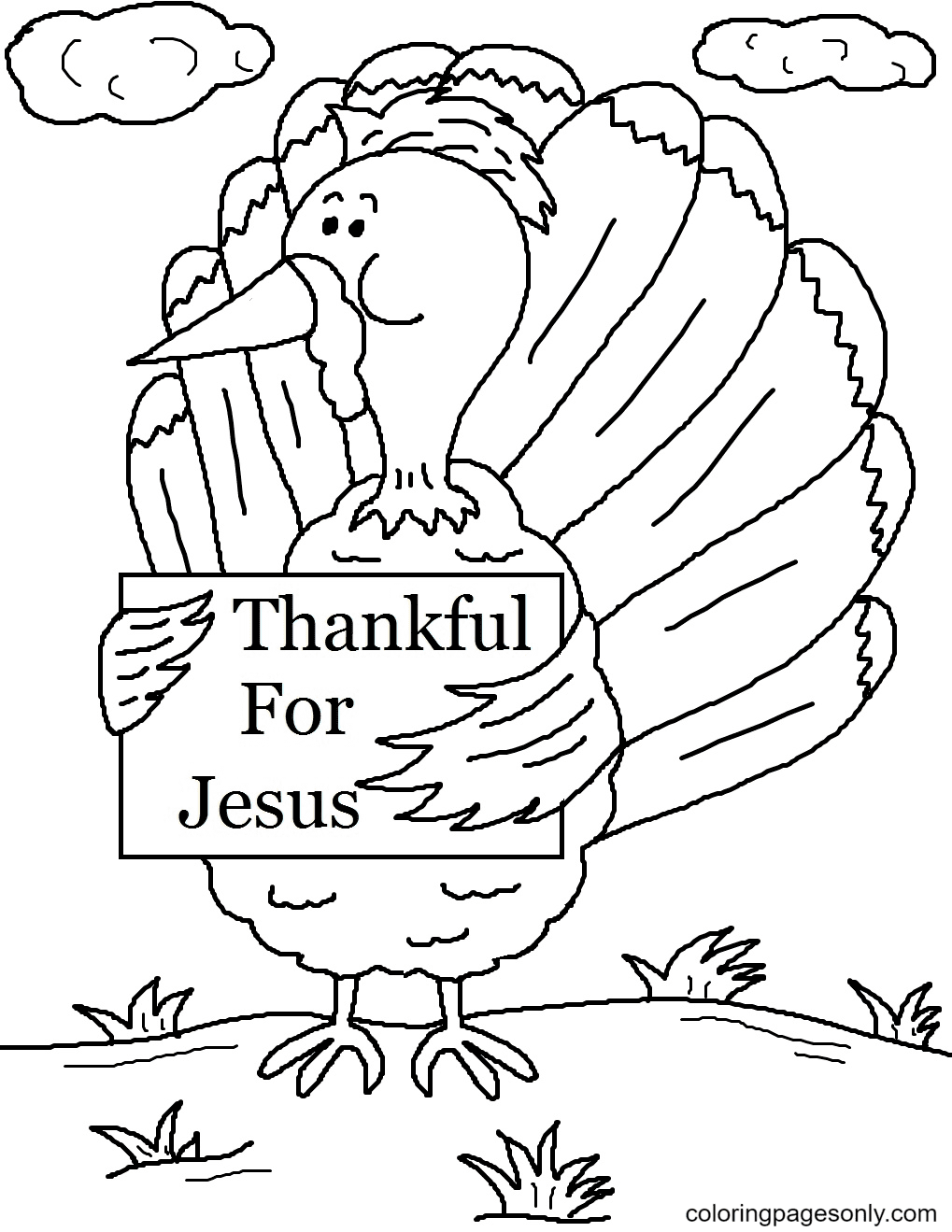 Church Thanksgiving Coloring Page