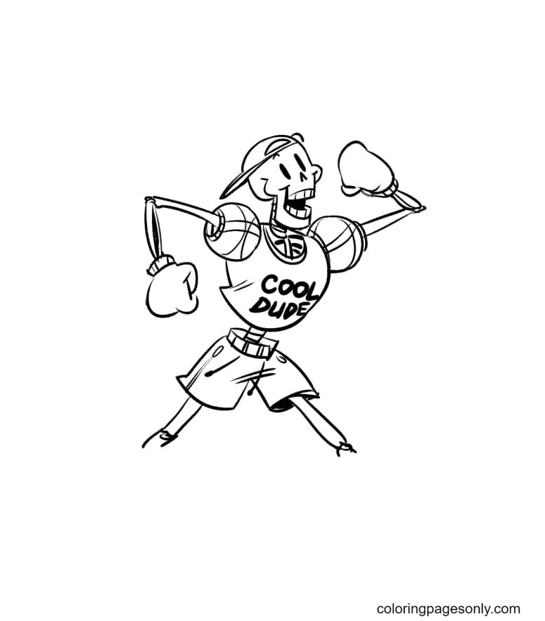Cool Dude Papyrus Coloring Page