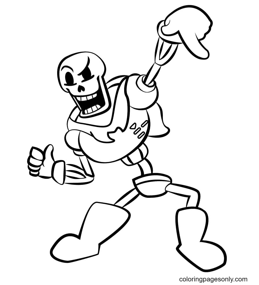 Cool Papyrus Coloring Page