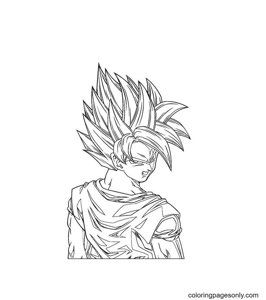 Cool Son Goku Dragon Ball Coloring Page