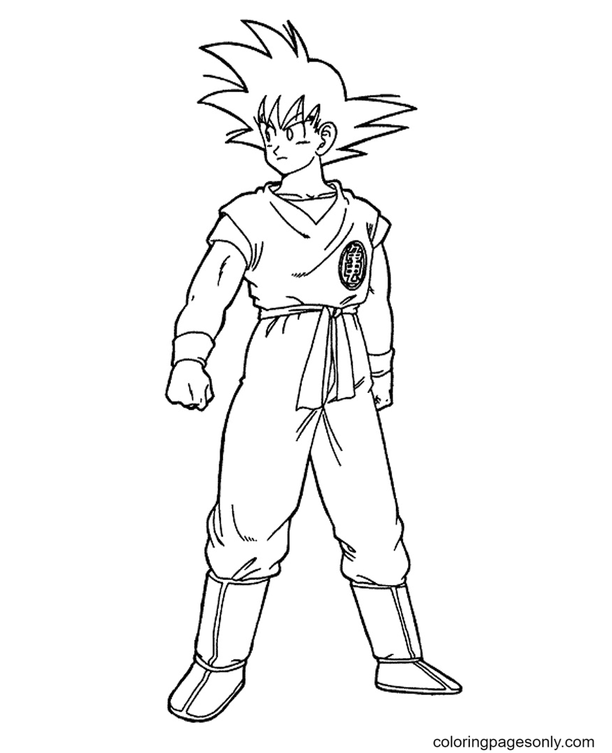 Cool Son Goku Coloring Page