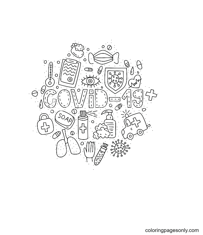 Coronavirus Free Printable Coloring Page