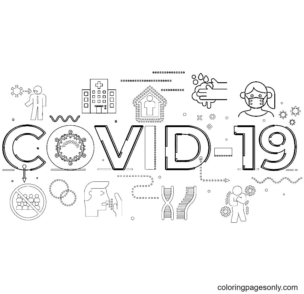 Coronavirus Coloring Page