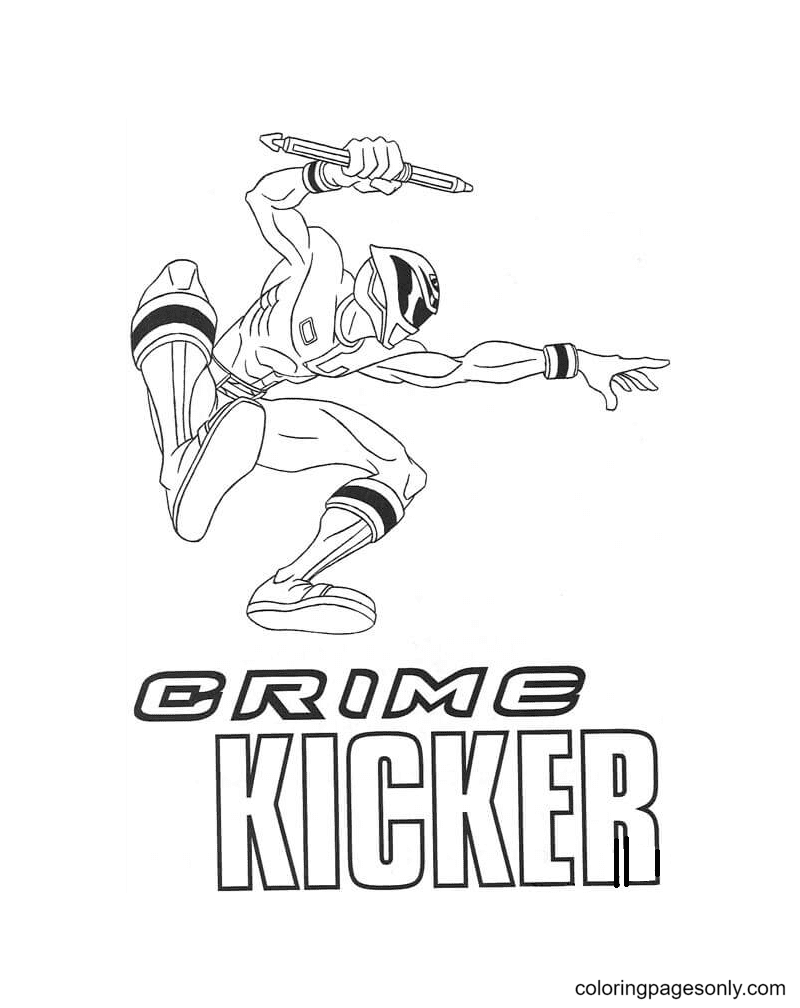 Crime Kicker Coloring Page