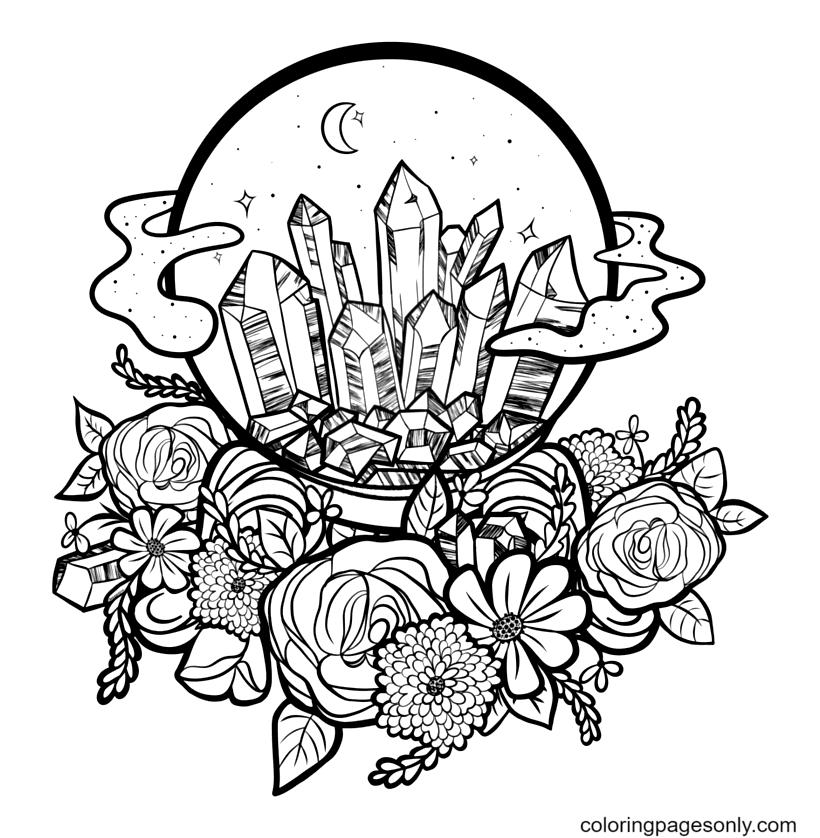 Crystal Ball Printable Coloring Page