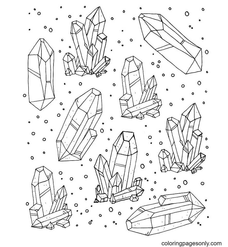 Crystal Free Coloring Page