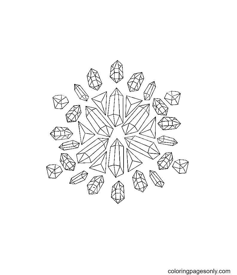 Crystal Mandala Coloring Page