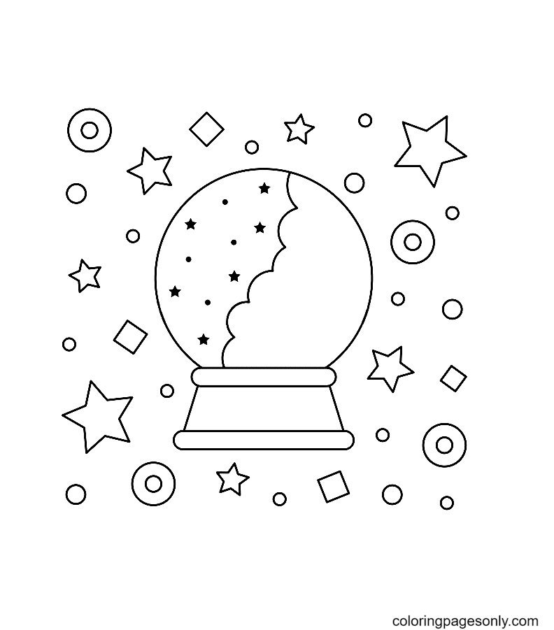 Crystal ball Coloring Page