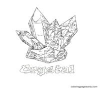 Crystal Coloring Page