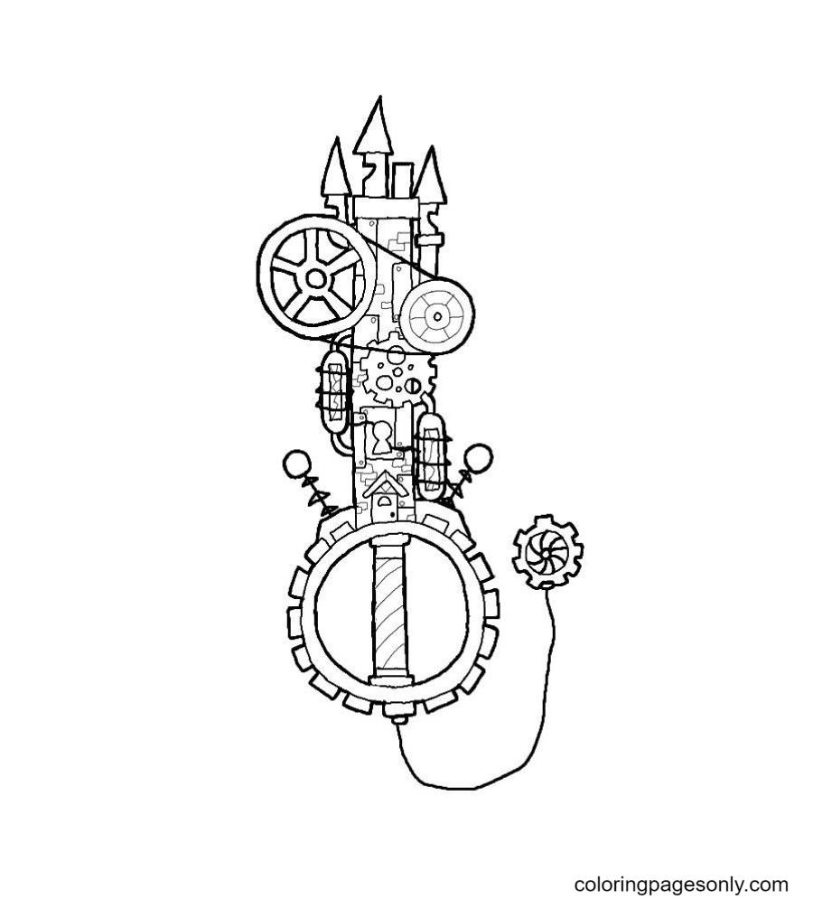 Custom Key Coloring Page