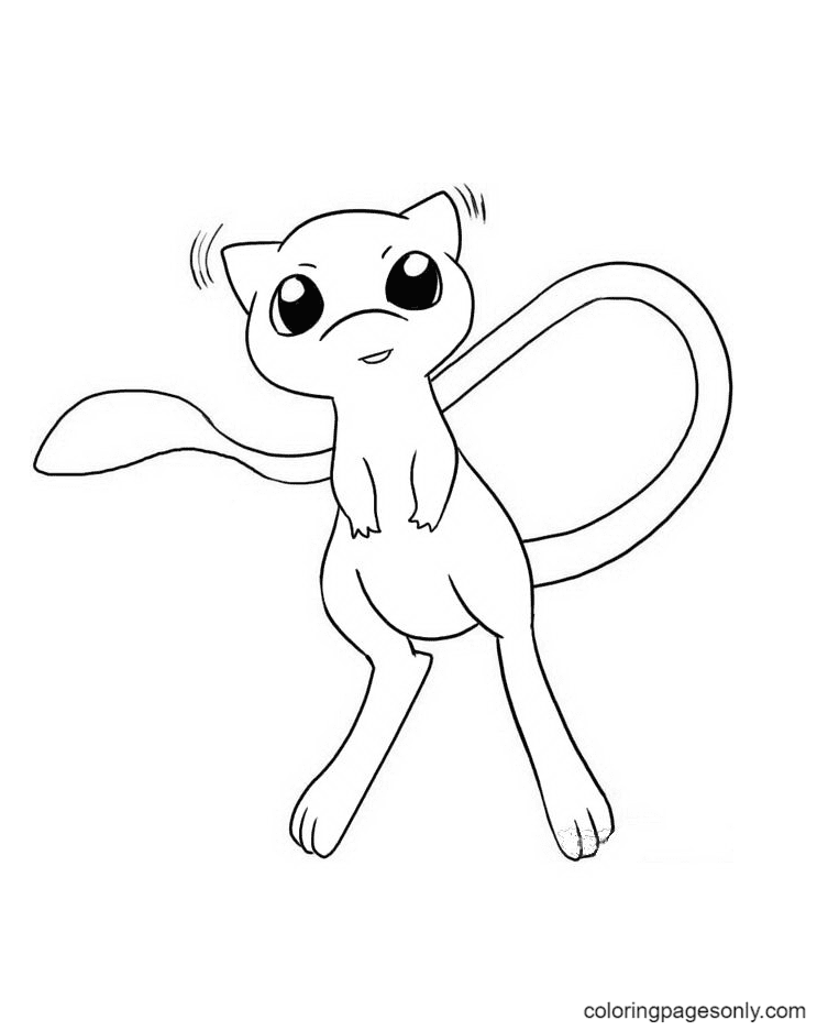 Cute Pokemon Mew Coloring Page
