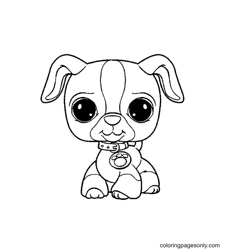 Cute Puppy Littlest Pet Shop Coloring Page