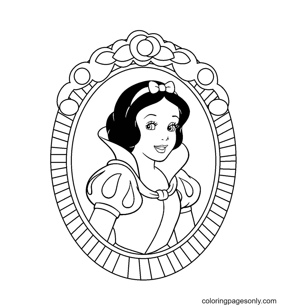 Cute Snow White Princess Coloring Page