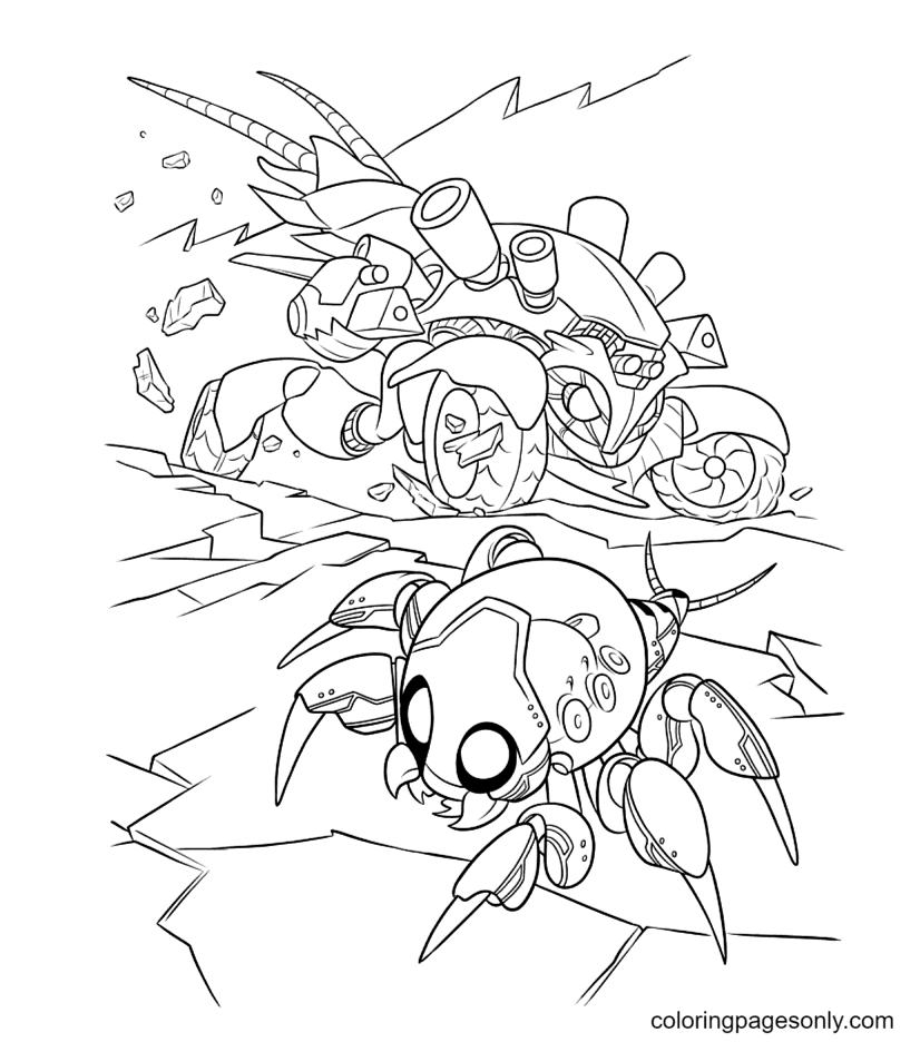 Cy-Bug in Wreck It Ralph Coloring Page