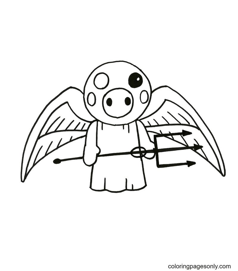 Demon Piggy Roblox Coloring Page