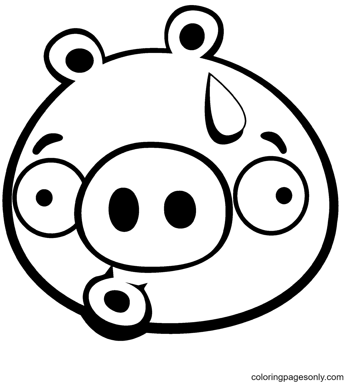 Discouraged Minion Pig Coloring Page
