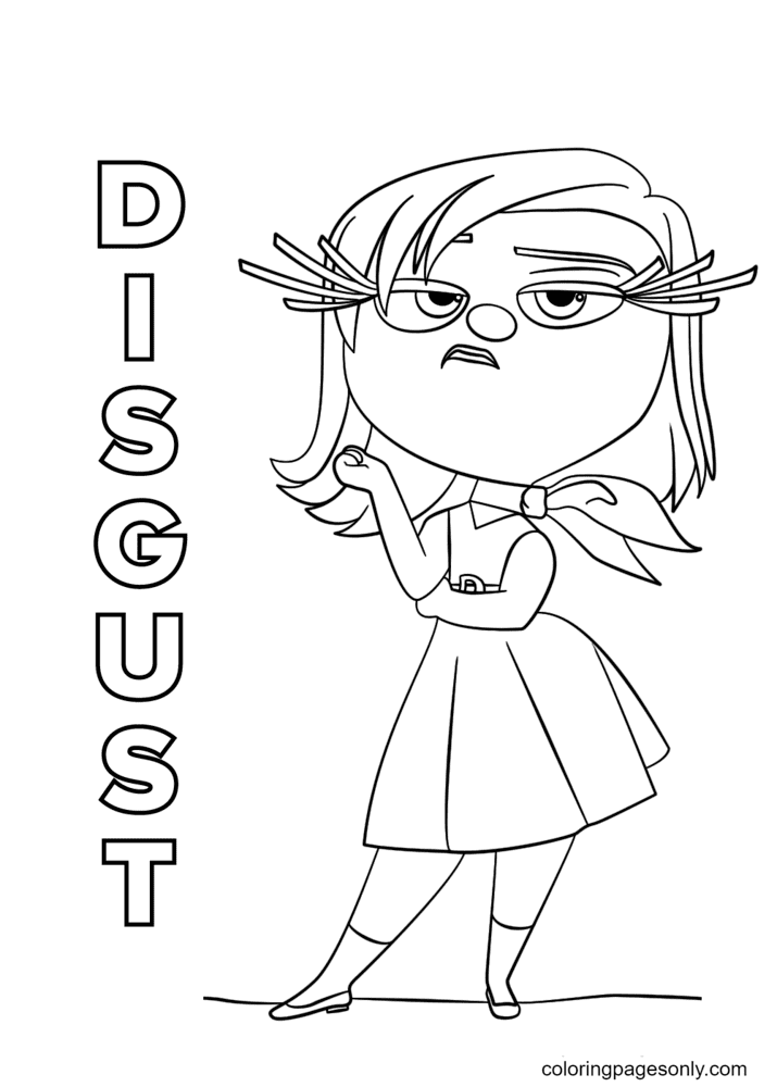 Disgust Inside Out Coloring Page
