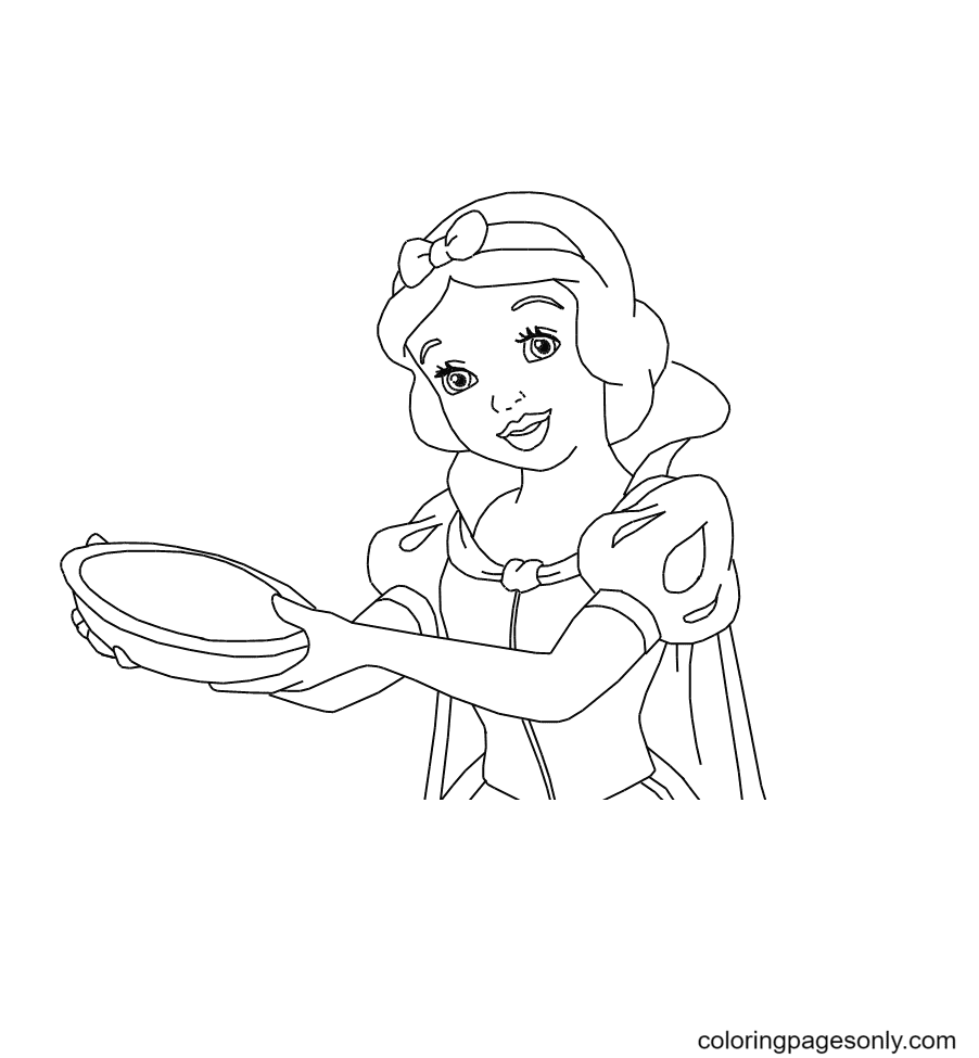 Disney Princess Snow White Coloring Page