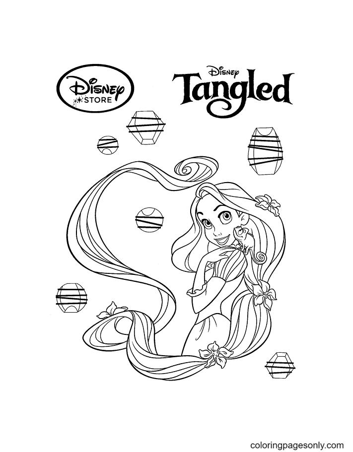 Disney Rapunzel Coloring Page