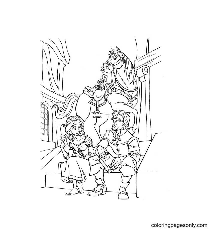 Disney Tangled Flynn Coloring Page