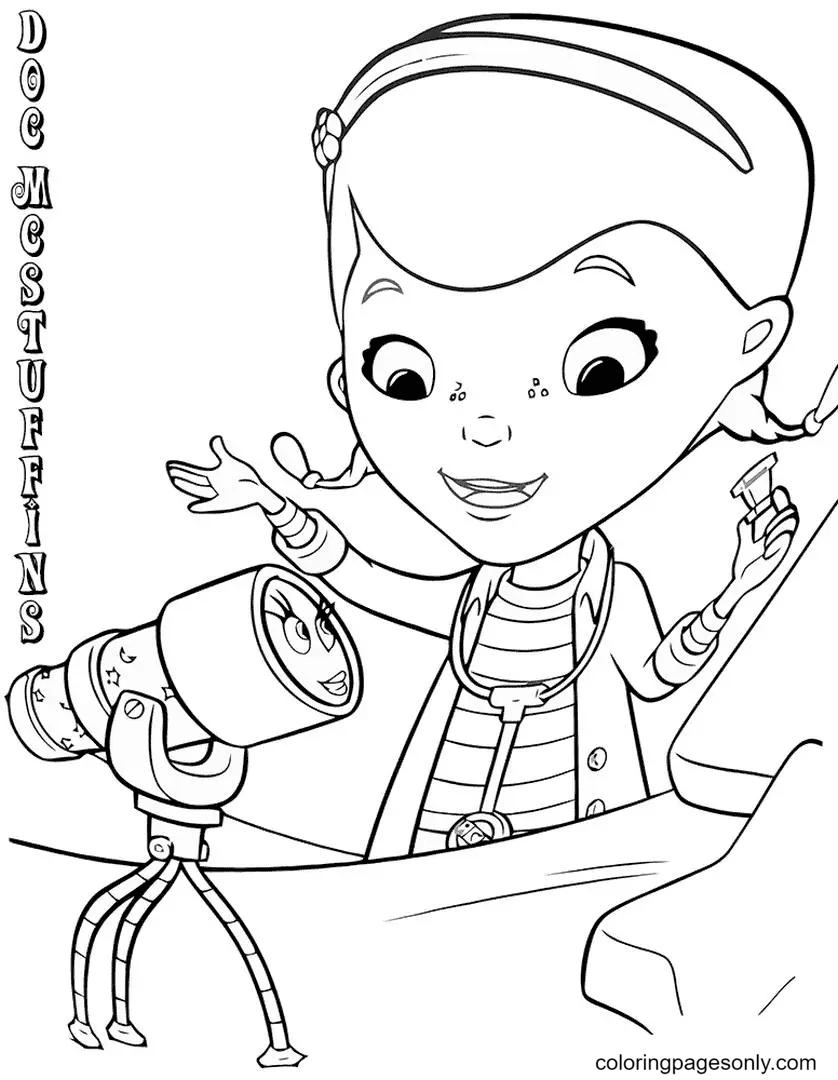 Doc McStuffins Disney Coloring Page